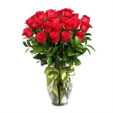 Arreglo de Rosas Rojas con 24 rosas