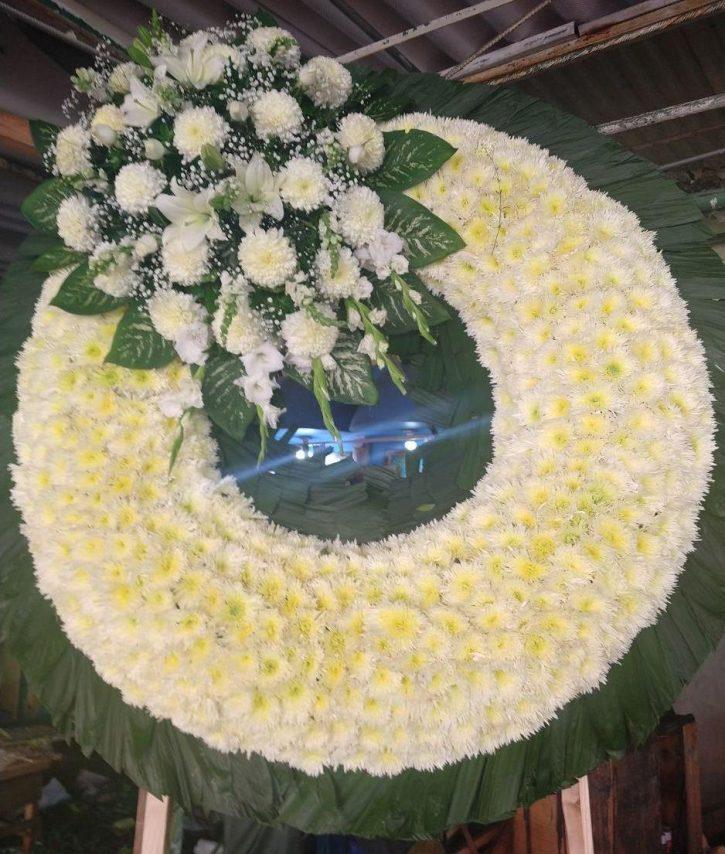 Corona Fúnebre Grande Rellena