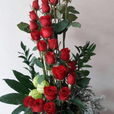 arreglo floral 24 rosas S