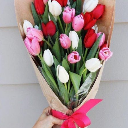 Ramo con 30 Tulipanes Mixtos