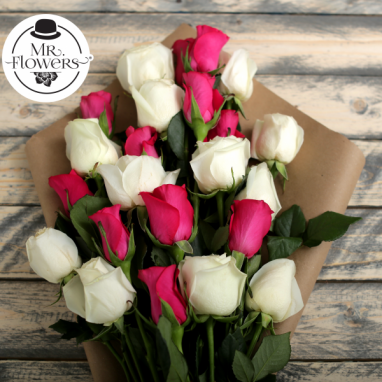 Ramo de 24 Rosas Bicolor