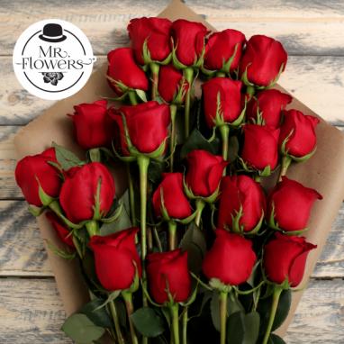 Ramo de 24 Rosas Rojas - Florería a Domicilio - Arreglosflorales.info